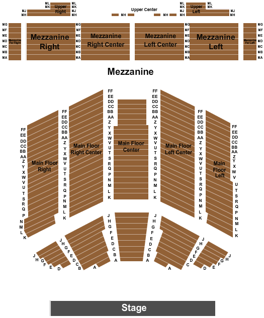 Crystal Grand Music Theatre End Stage seating chart - eventticketscenter.com