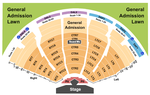 DTE Energy Music Theatre seating chart event tickets center