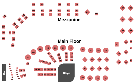 Dakota Jazz Club Floor Plan