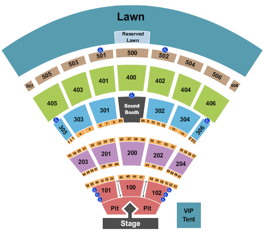 Darien Lake Performing Arts Center seating chart event tickets center