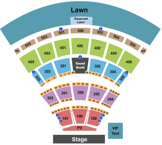 Darien Lake Performing Arts Center Floor Plan