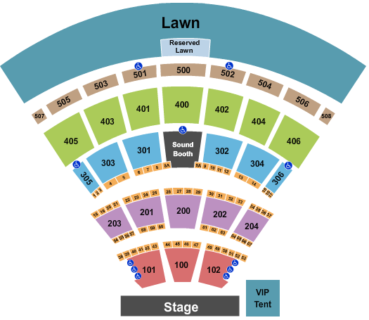 Darien Lake Amphitheater Floor Plan