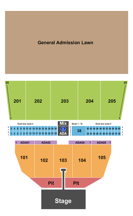 Darling's Waterfront Pavilion seating chart event tickets center