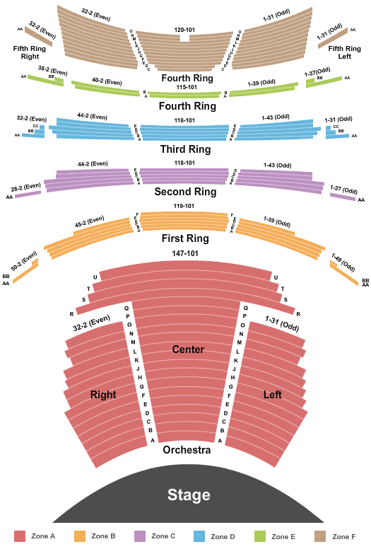 David H. Koch Theater seating chart event tickets center