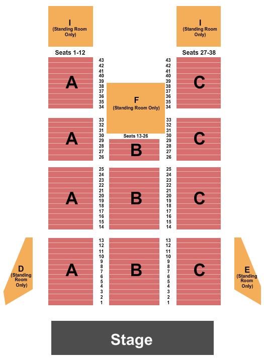 Deep Water Amphitheater Seating Chart