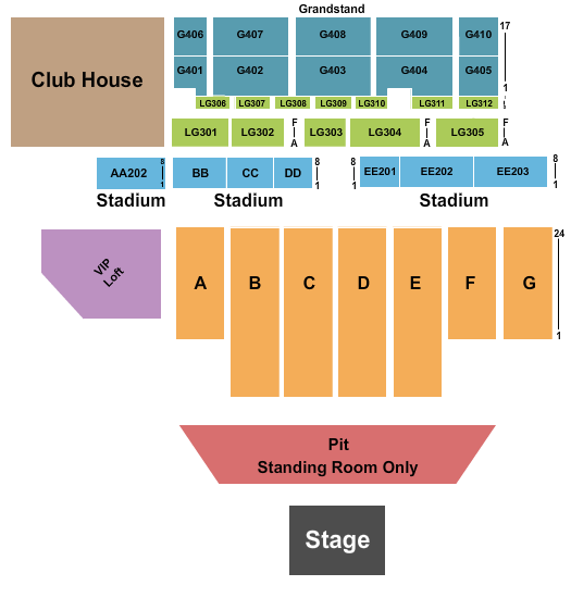 Delaware State Fairgrounds Seating Chart