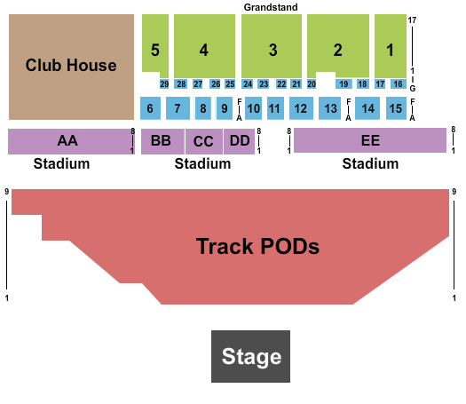 Delaware State Fairgrounds Seating Map