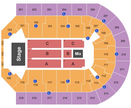 Fleetwood Mac Denny Sanford Premier Center Seating Chart