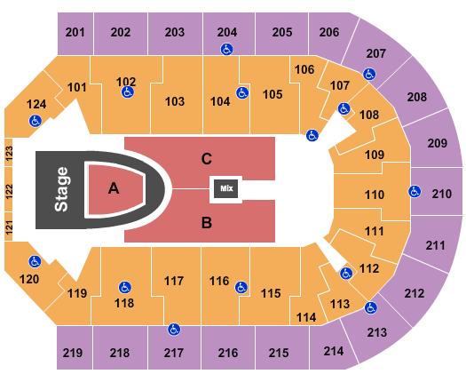 Denny Sanford Premier Center seating chart event tickets center