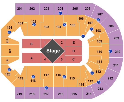 Denny Sanford Premier Center seating chart event tickets center