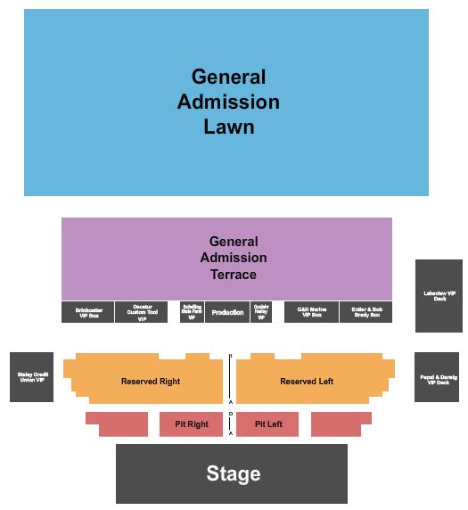 Devon Lakeshore Amphitheater Seating Chart