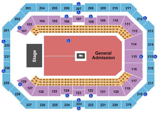 Dickies Arena Floor Plan