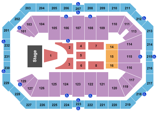 Dickies Arena seating chart event tickets center