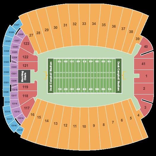 Doak Campbell Stadium seating chart event tickets center