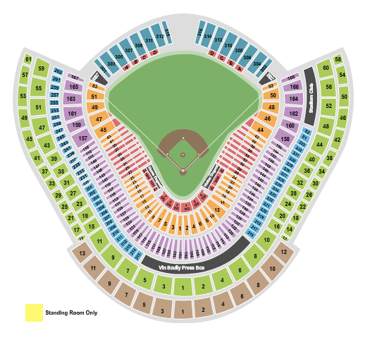 Dodger Stadium seating chart event tickets center