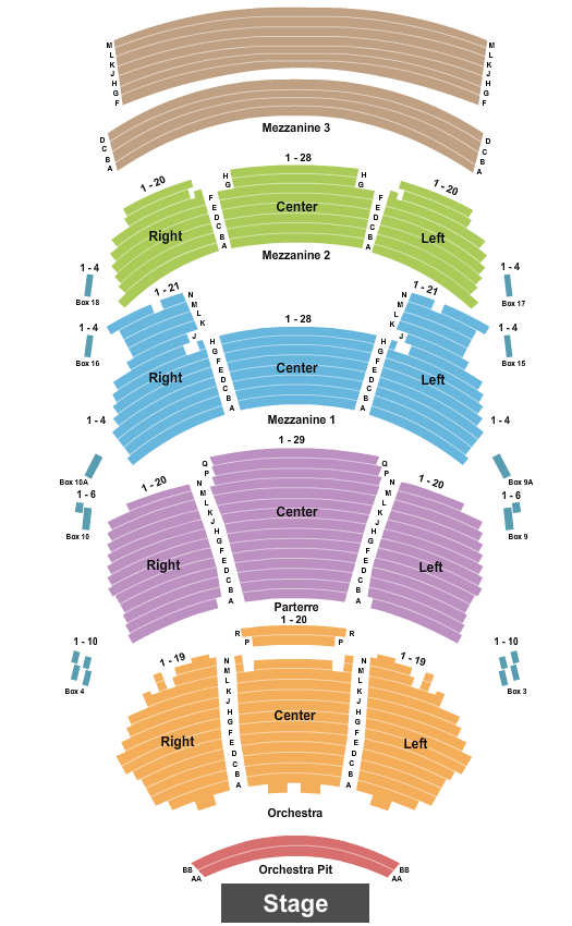 Dolby Theatre Seating Chart Plan