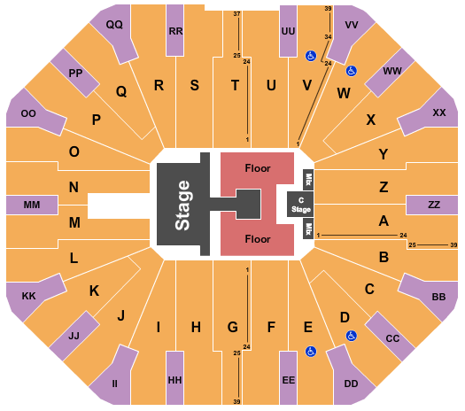 Don Haskins Center Floor Plan