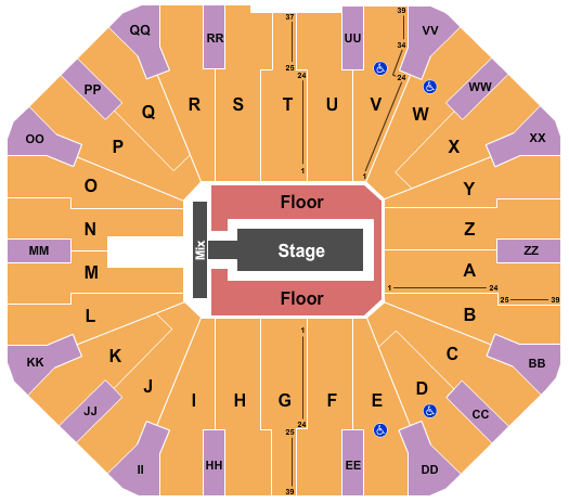 Don Haskins Center seating chart event tickets center
