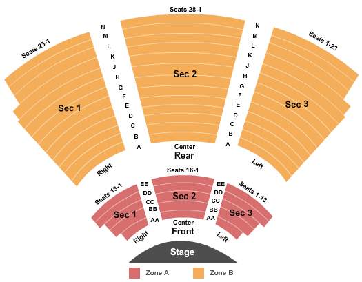 Drury Lane Theatre Oakbrook Terrace Seating Map