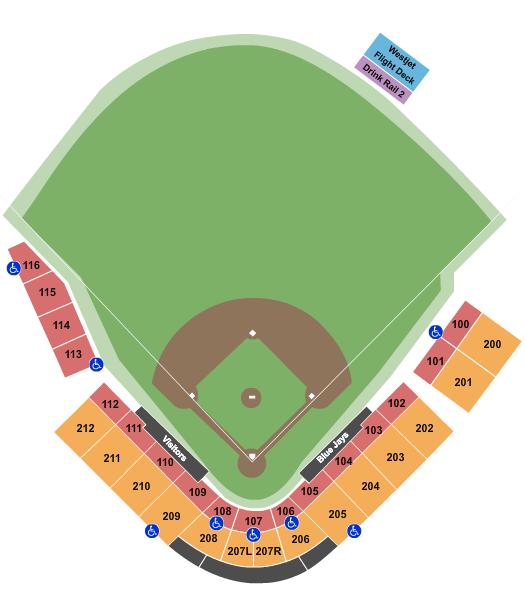 TD Ballpark Floor Plan