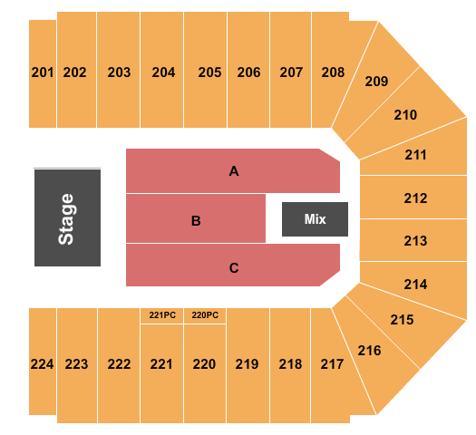 Trans-Siberian Orchestra EJ Nutter Center Seating Chart