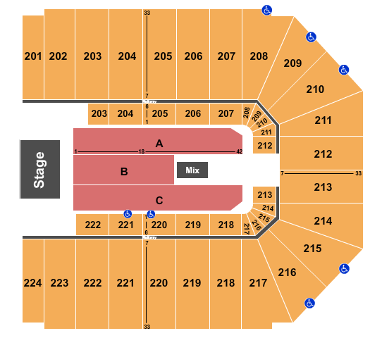 EJ Nutter Center seating chart event tickets center