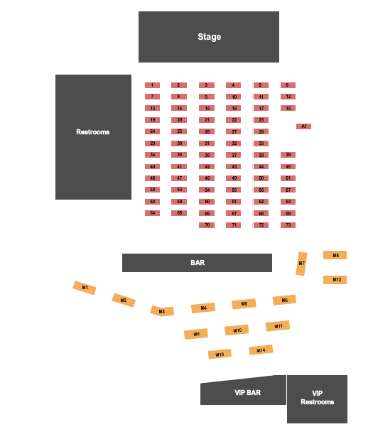 EPIC Event Center Seating Chart Plan