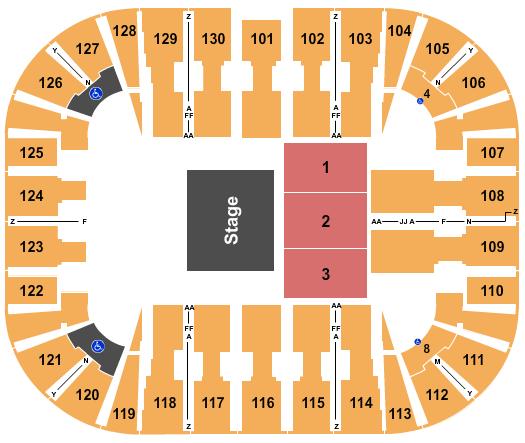 EagleBank Arena Floor Plan