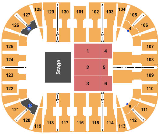 EagleBank Arena seating chart event tickets center