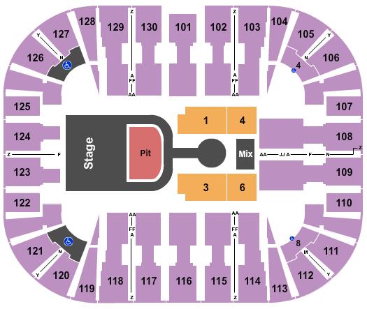 seating chart for EagleBank Arena Maverick City Music - eventticketscenter.com