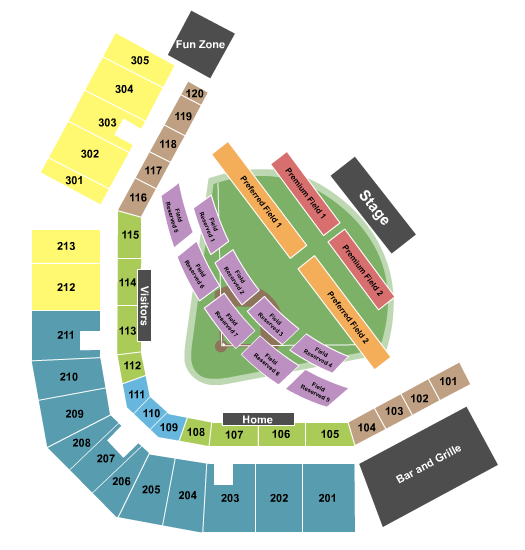 Eastwood Field Seating Chart