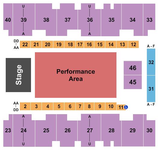 El Paso County Coliseum Floor Plan
