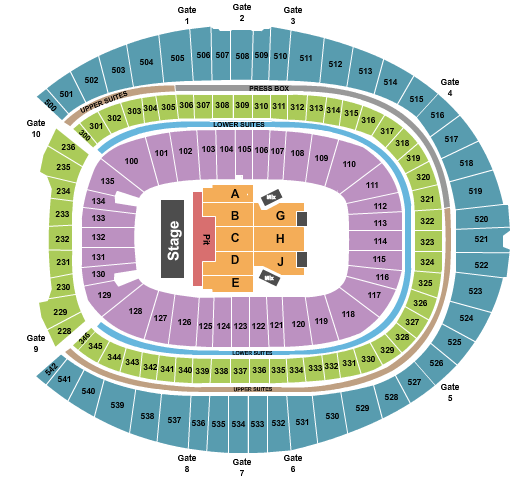 Empower Field At Mile High seating chart event tickets center