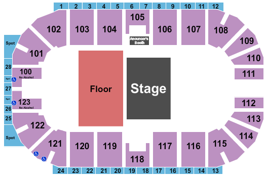 Encana Events Centre seating chart event tickets center