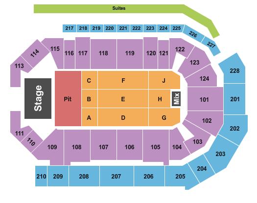 Enmarket Arena Floor Plan