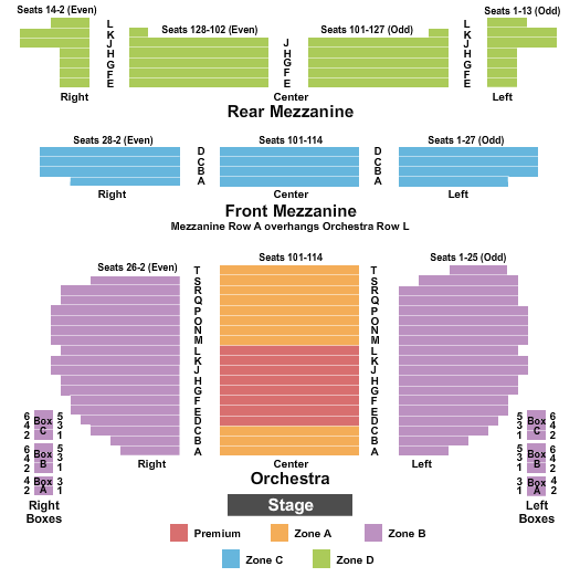 Eugene O'Neill Theatre Seating Chart Plan