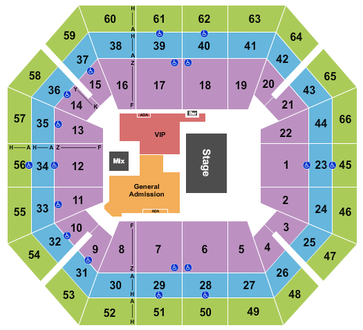 seating chart for ExtraMile Arena Cody Johnson - eventticketscenter.com