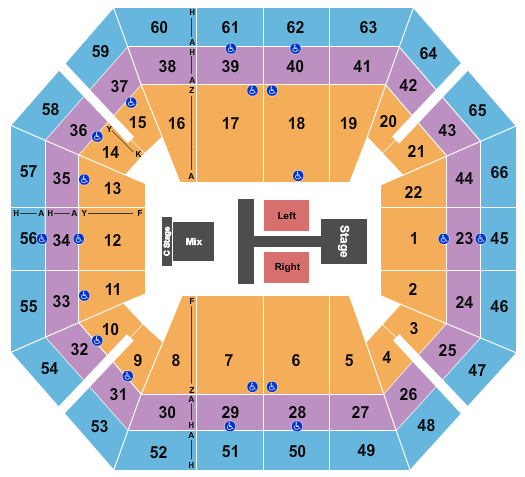 ExtraMile Arena seating chart event tickets center