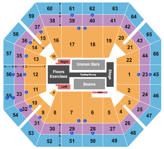 seating chart for ExtraMile Arena Gold Over America - eventticketscenter.com
