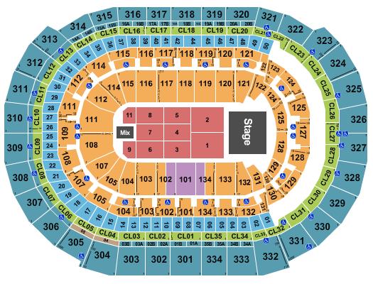 FLA Live Arena Floor Plan