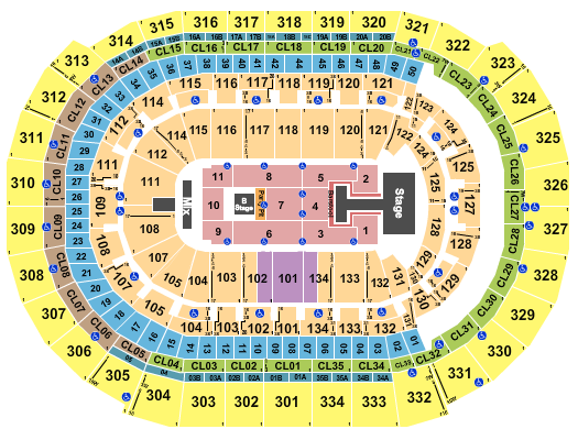 FLA Live Arena seating chart event tickets center