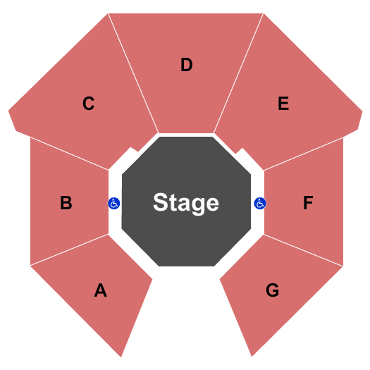 F. Otto Haas Stage At Arden Theatre Company Seating Map