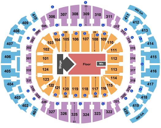 seating chart for FTX Arena Dua Lipa - eventticketscenter.com