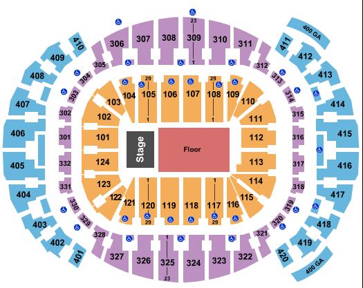 FTX Arena Floor Plan