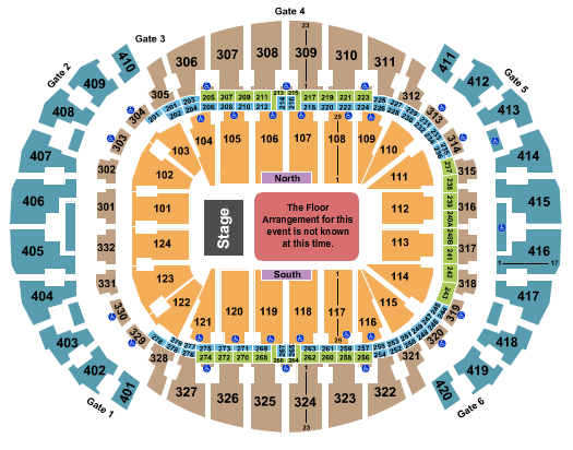 seating chart for FTX Arena Generic Floor - eventticketscenter.com