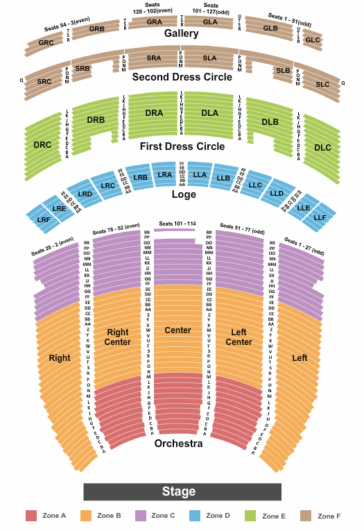 Fabulous Fox Theatre - Atlanta seating chart event tickets center