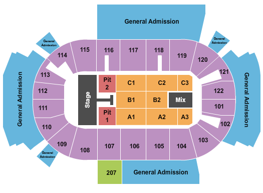 Family Arena Seating Map