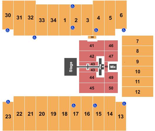 seating chart for Fargodome Tobymac - eventticketscenter.com