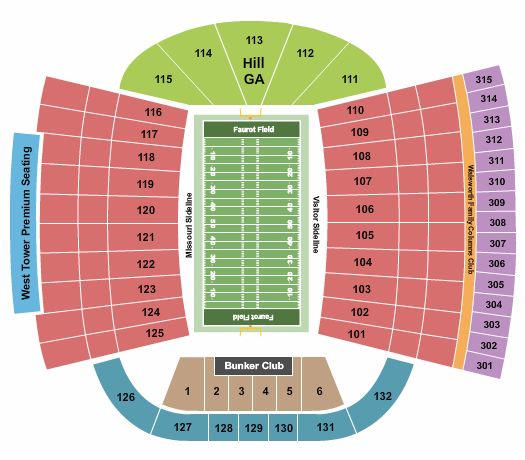 Faurot Field at Memorial Stadium seating chart event tickets center