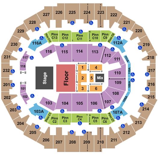 FedExForum seating chart event tickets center